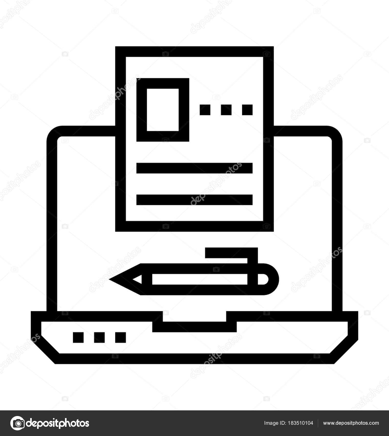 Artículo escrito Vector icono — Vector de stock © prosymbols #183510104