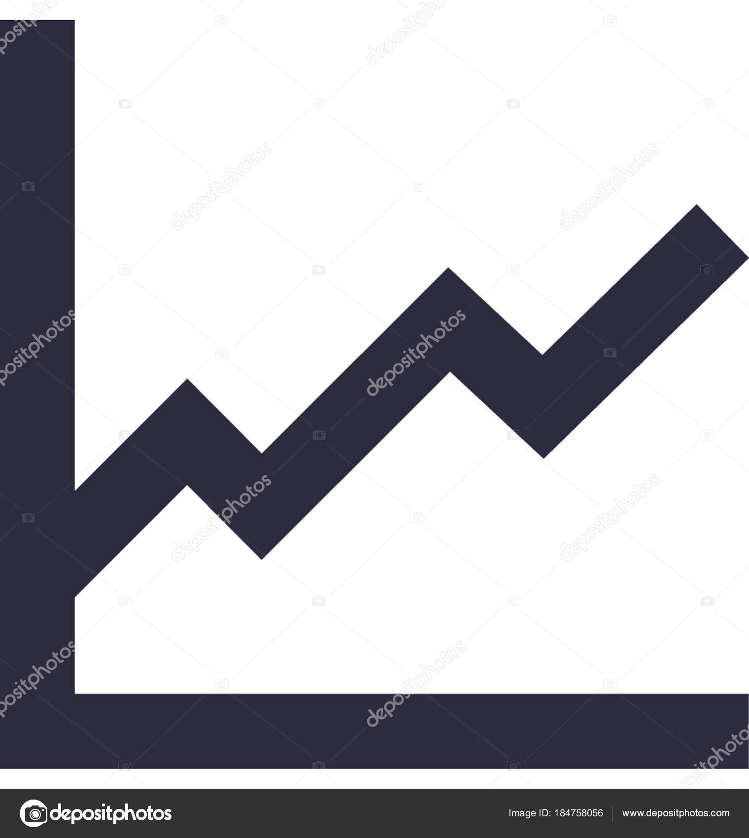 line graph vector icon — stock vector © prosymbols #184758056