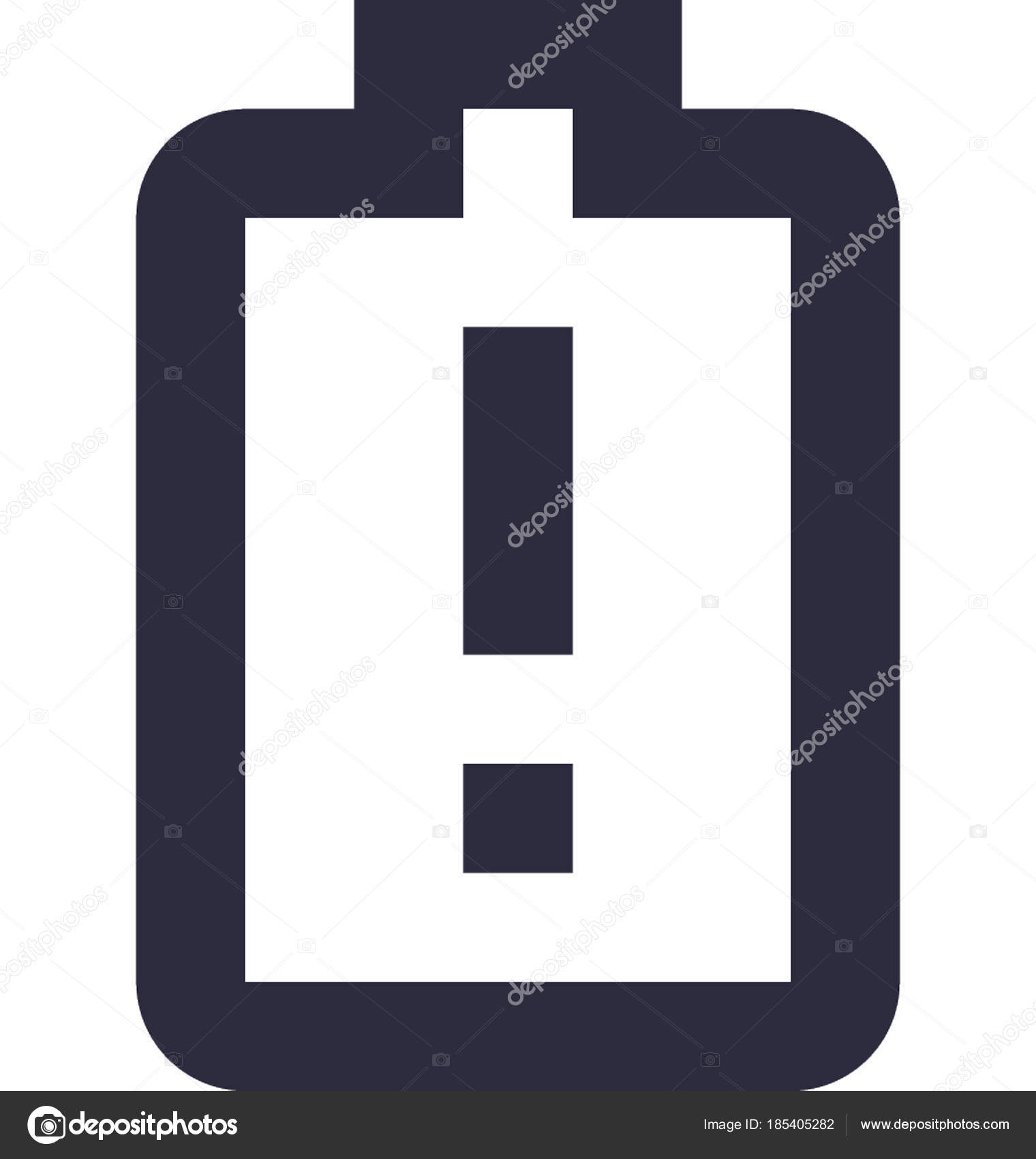 low battery vector icon stock vector c prosymbols 185405282 depositphotos