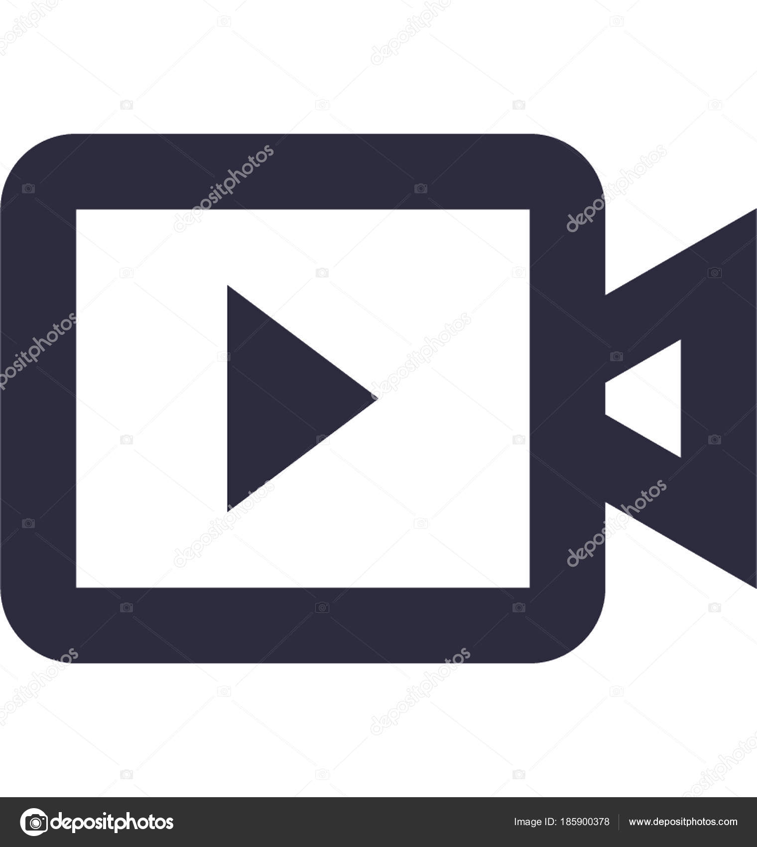 Video Camera Vector Icon– stock illustration