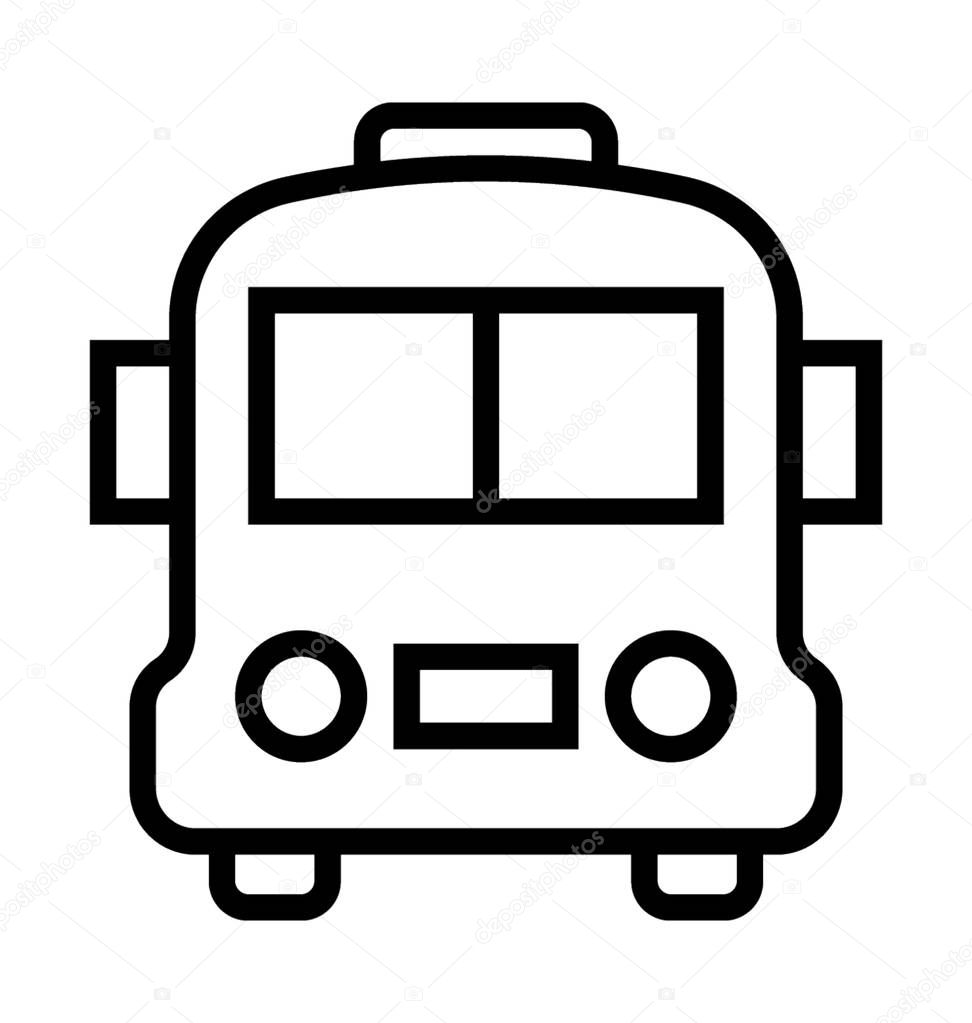 Tour Bus Vector Icon