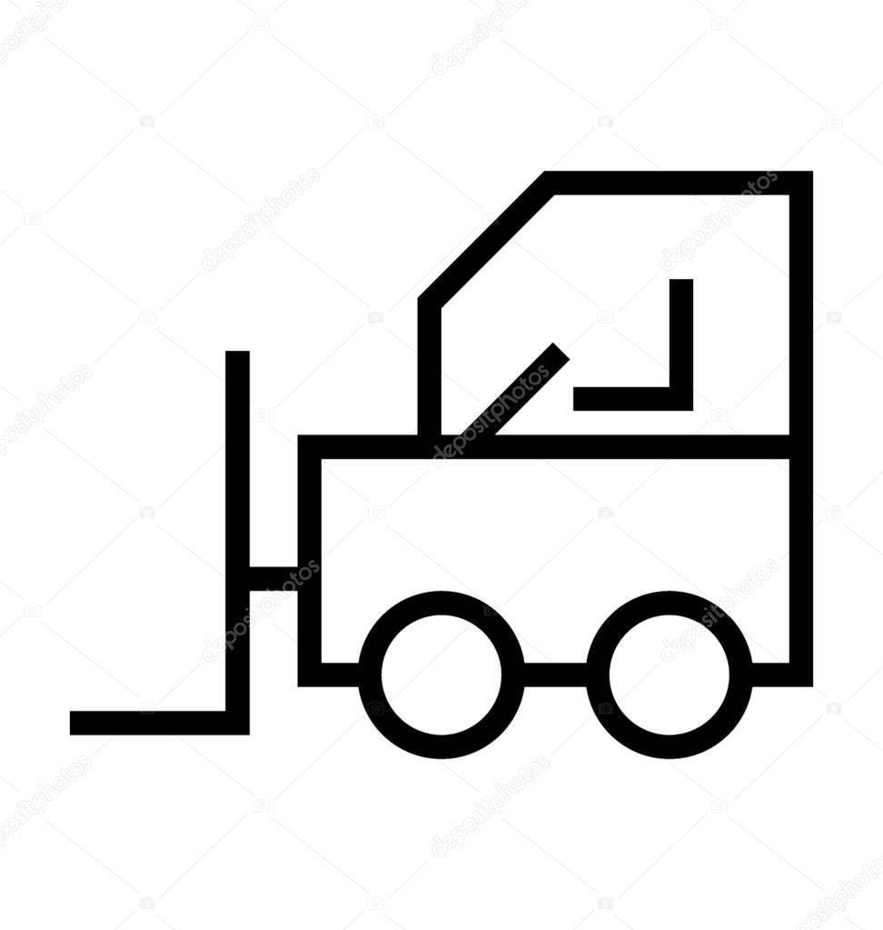 Forklift Truck Vector Icon