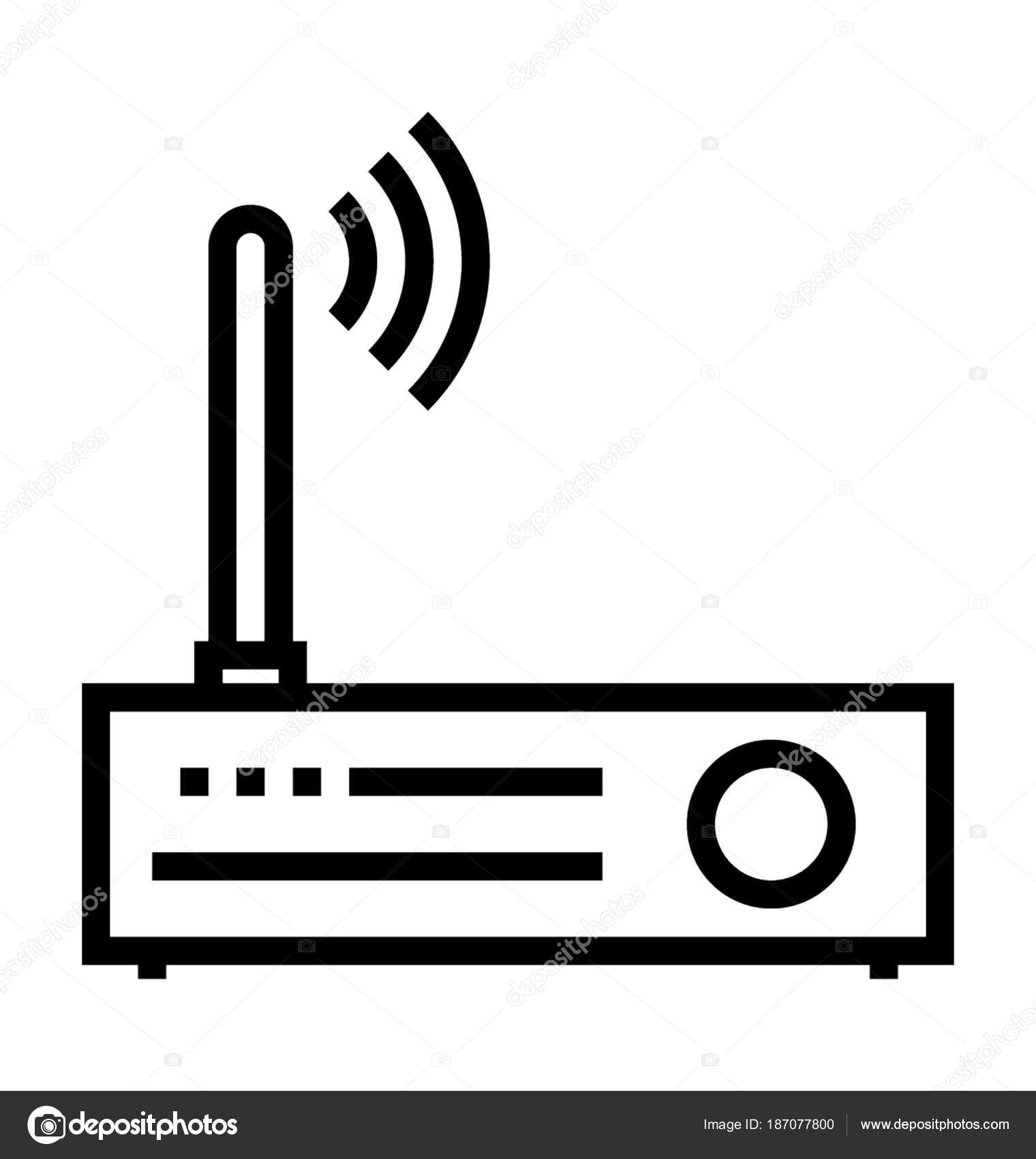Wlan Router Vektor Icon — Stockvektor © prosymbols #187077800