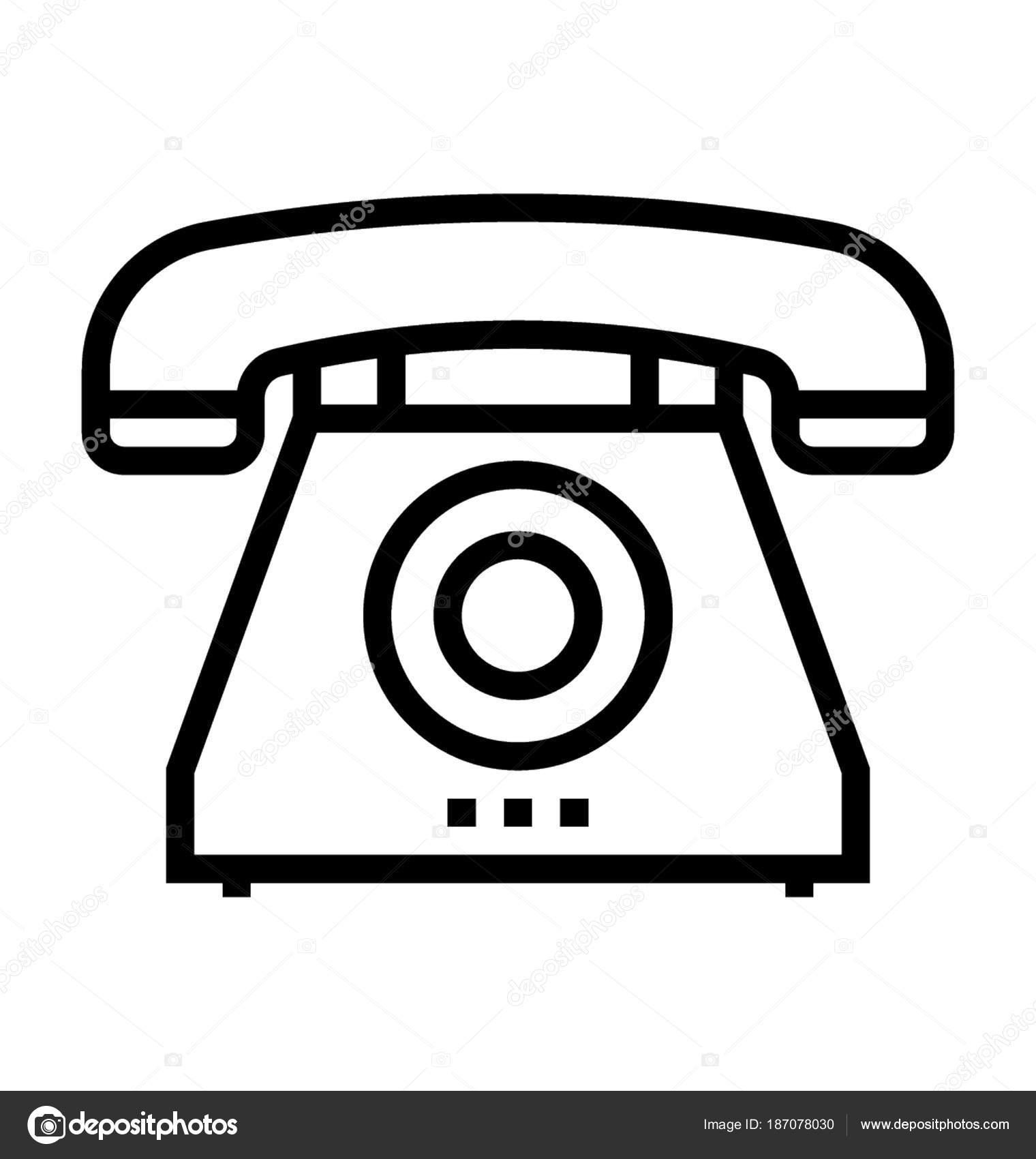 retro telephone vector icon stock vector prosymbols 187078030 rh depositphotos com telephone vector eps telephone vector icon