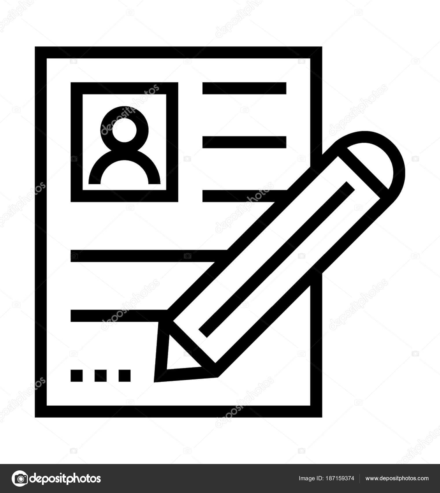 Lebenslauf schreiben Vektor Icon — Stockvektor © prosymbols #187159374