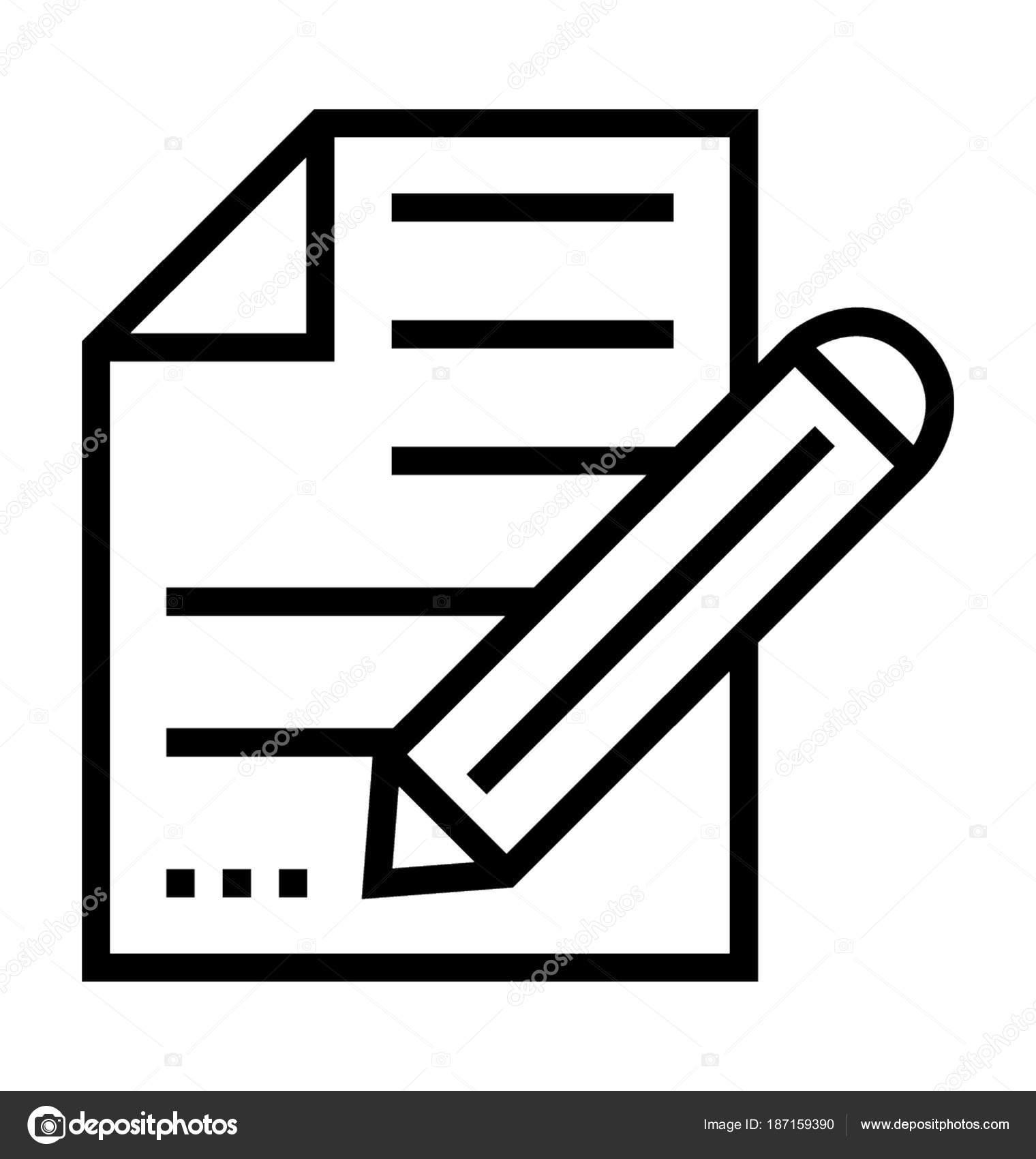 Icono de Vector de escritura — Vector de stock © prosymbols #187159390
