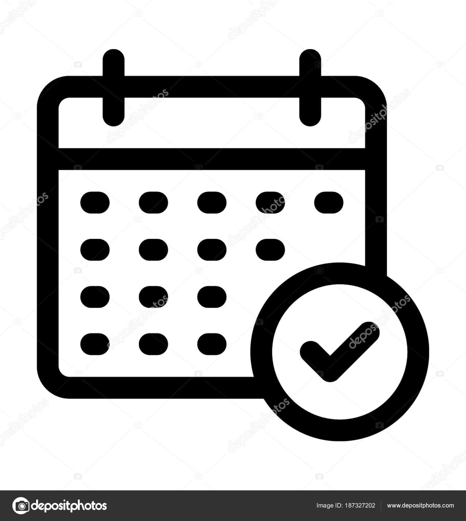 Calendario Vector.Icono De Calendario Vector Archivo Imagenes Vectoriales