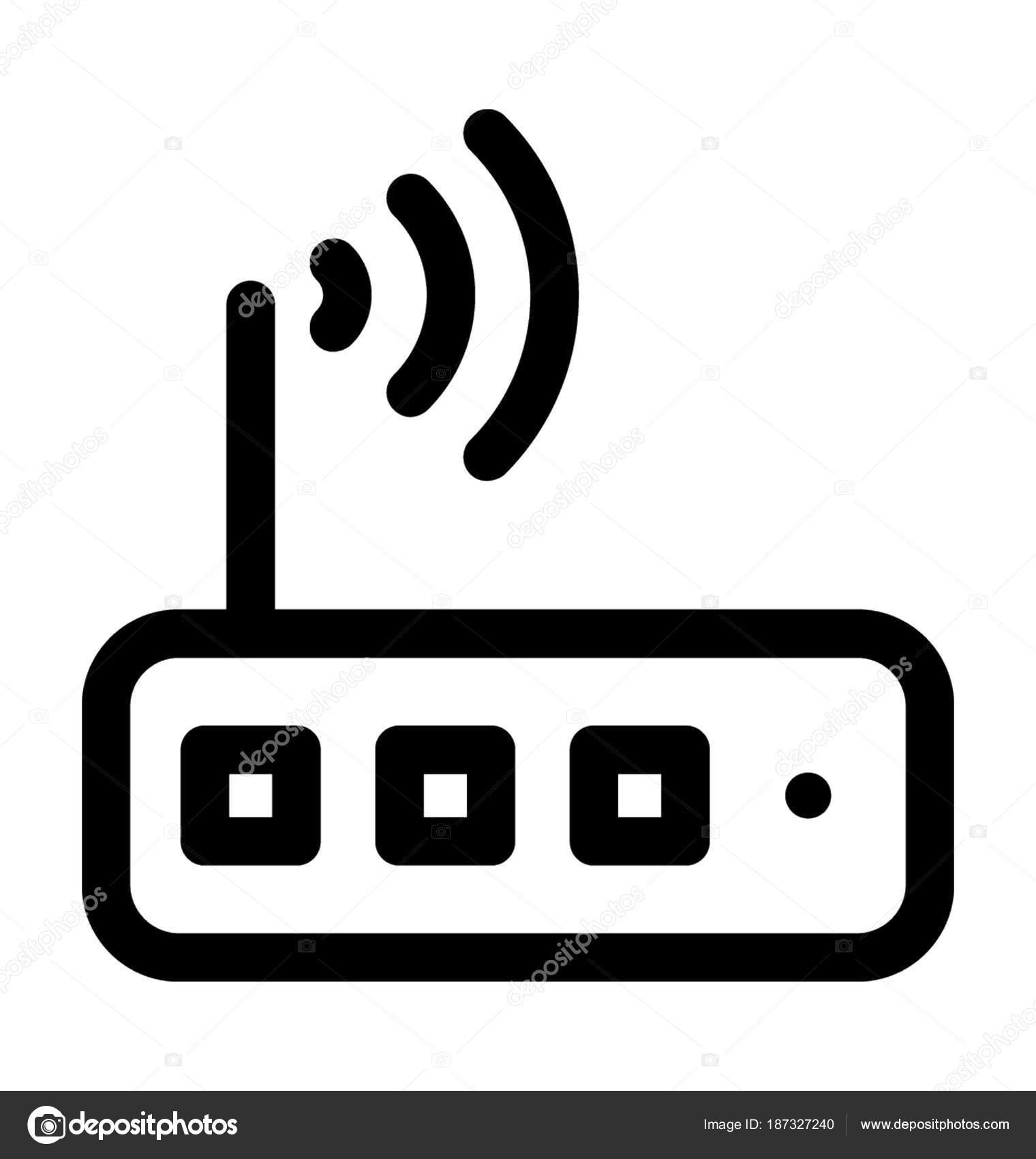 WLAN Router Vektor Icon — Stockvektor © prosymbols #187327240