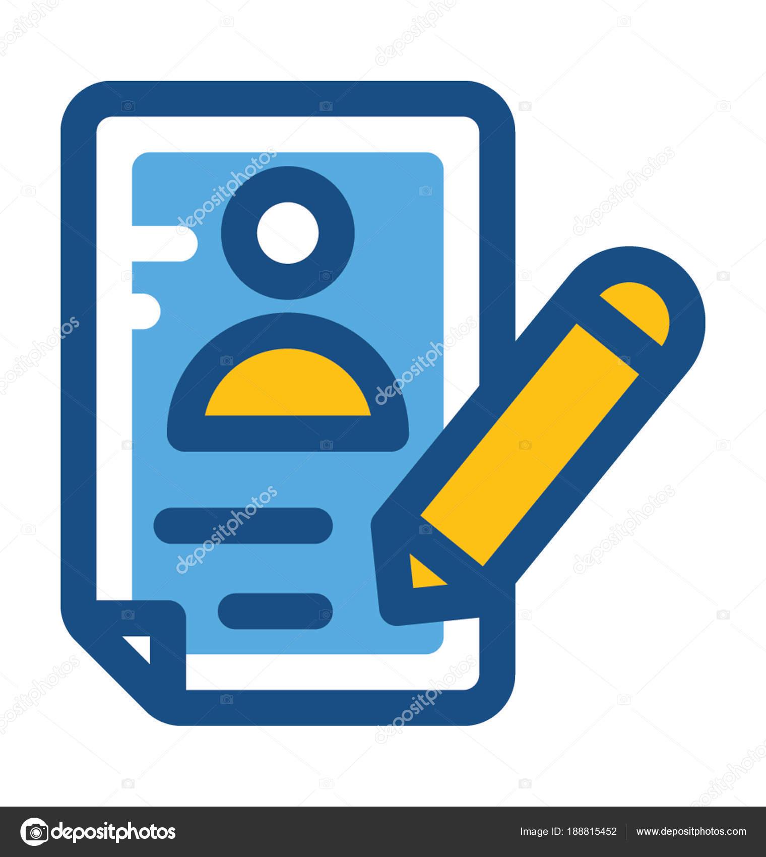 reanudar la escritura — Vector de stock © prosymbols #188815452