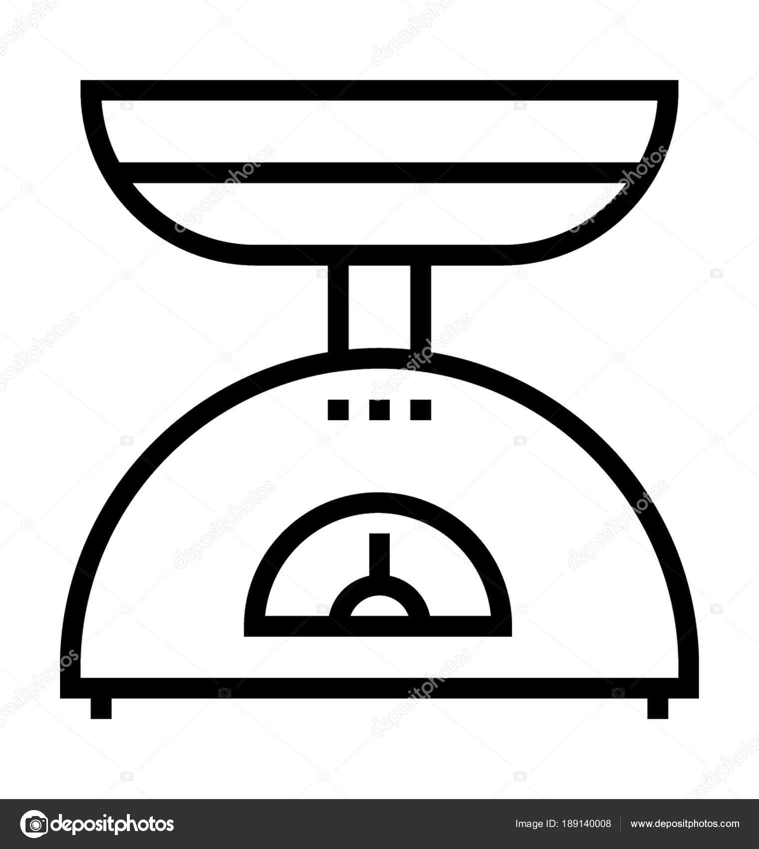 Balance cuisine image vectorielle prosymbols 189140008 - Dessin de balance ...