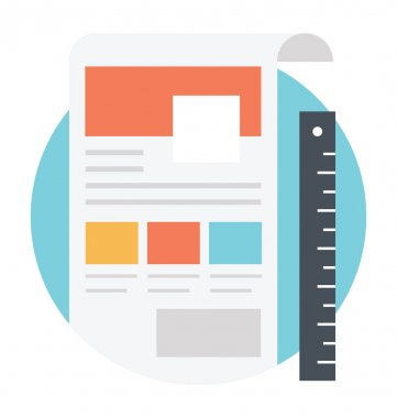 Vector icon of a website layout