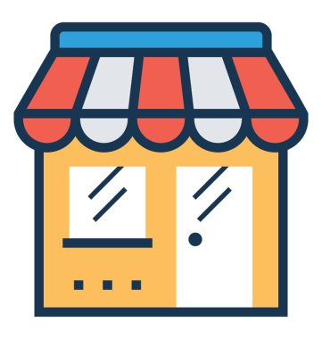 Shop Flat and Line Icon