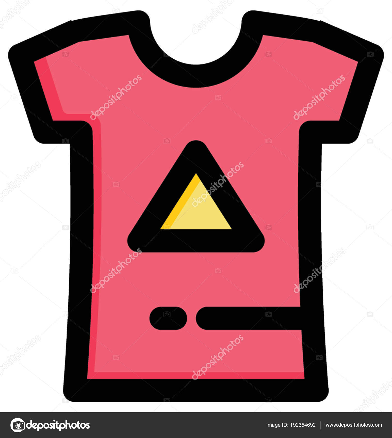 Hermosa Ilustración Los Niños Shirt Con Triángulo Firmar Camiseta ...