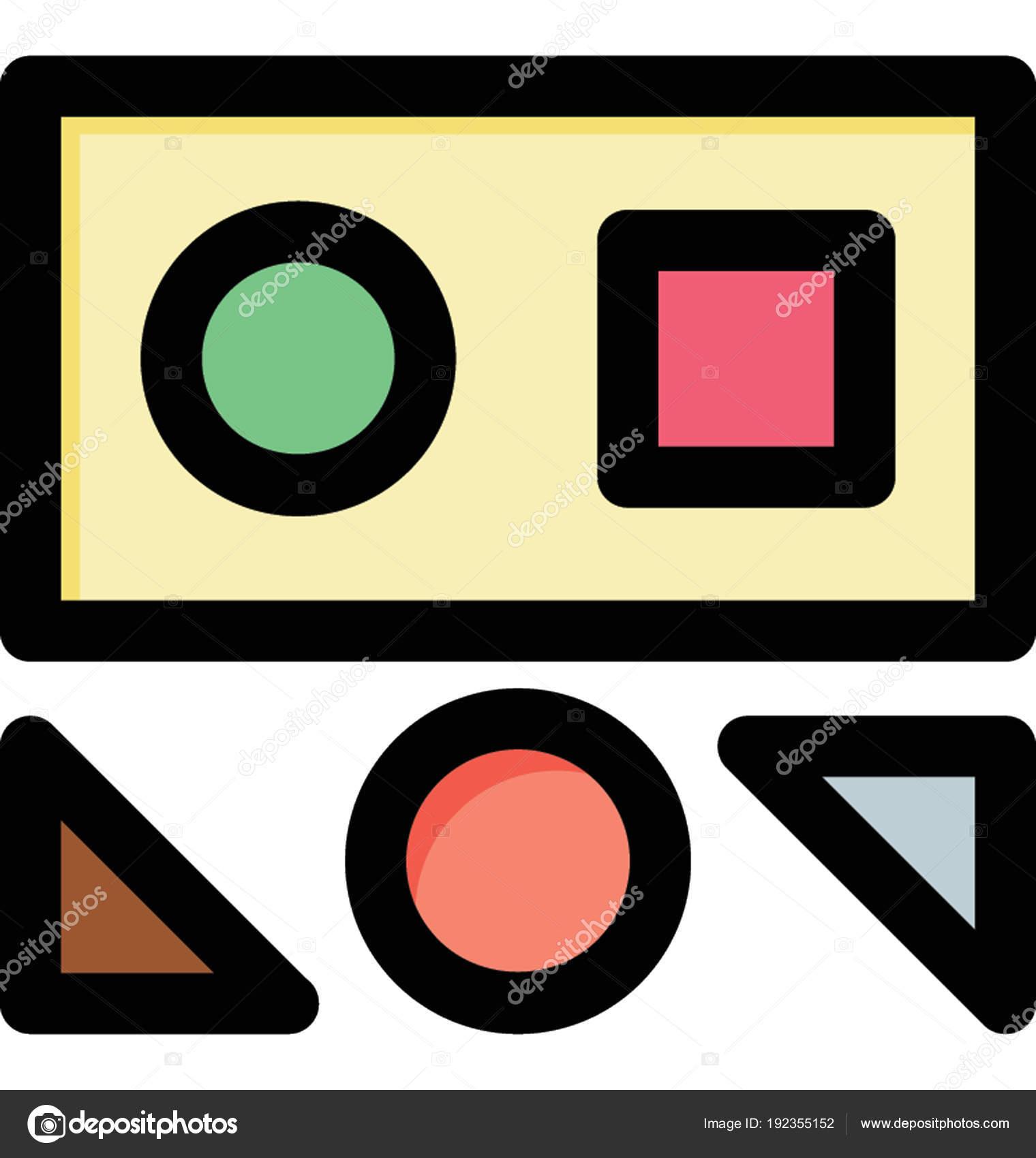 Formas Geométricas Simples Para Niños Vector Ilustración Por ...