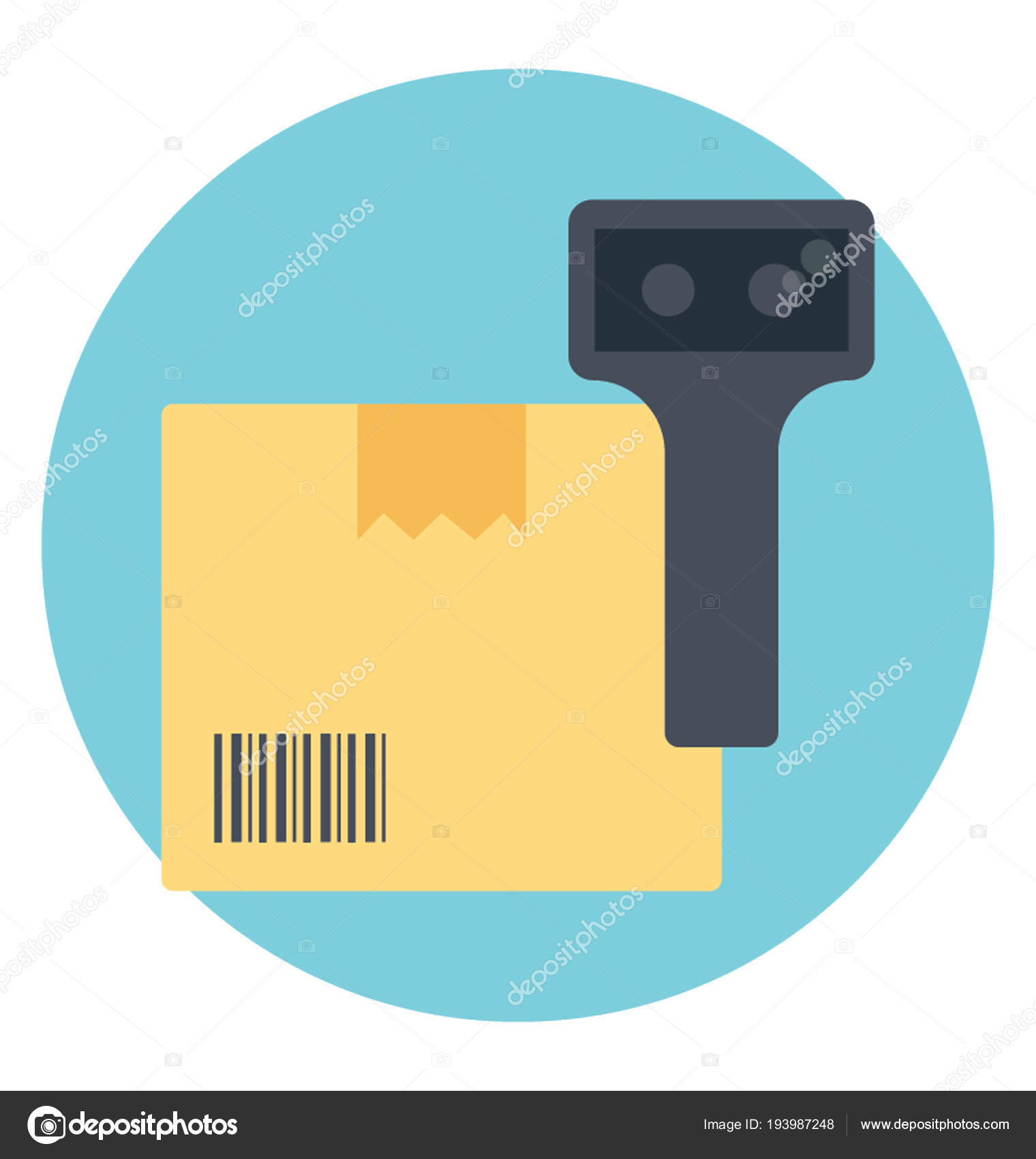 Barcode Verification barcode scanner cardboard product verification — stock