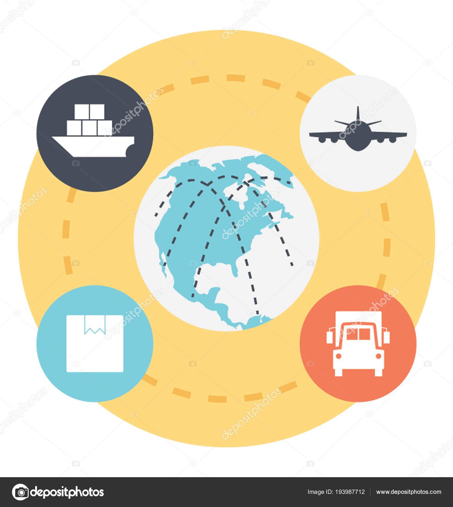 International Freight Forwarding Service — Stock Vector © prosymbols