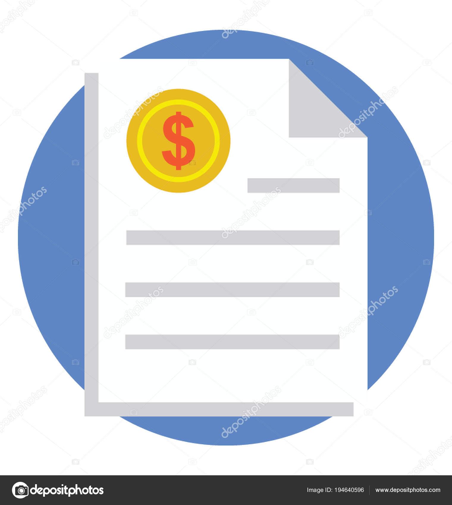 flat icon budgeting report � stock vector 169 prosymbols