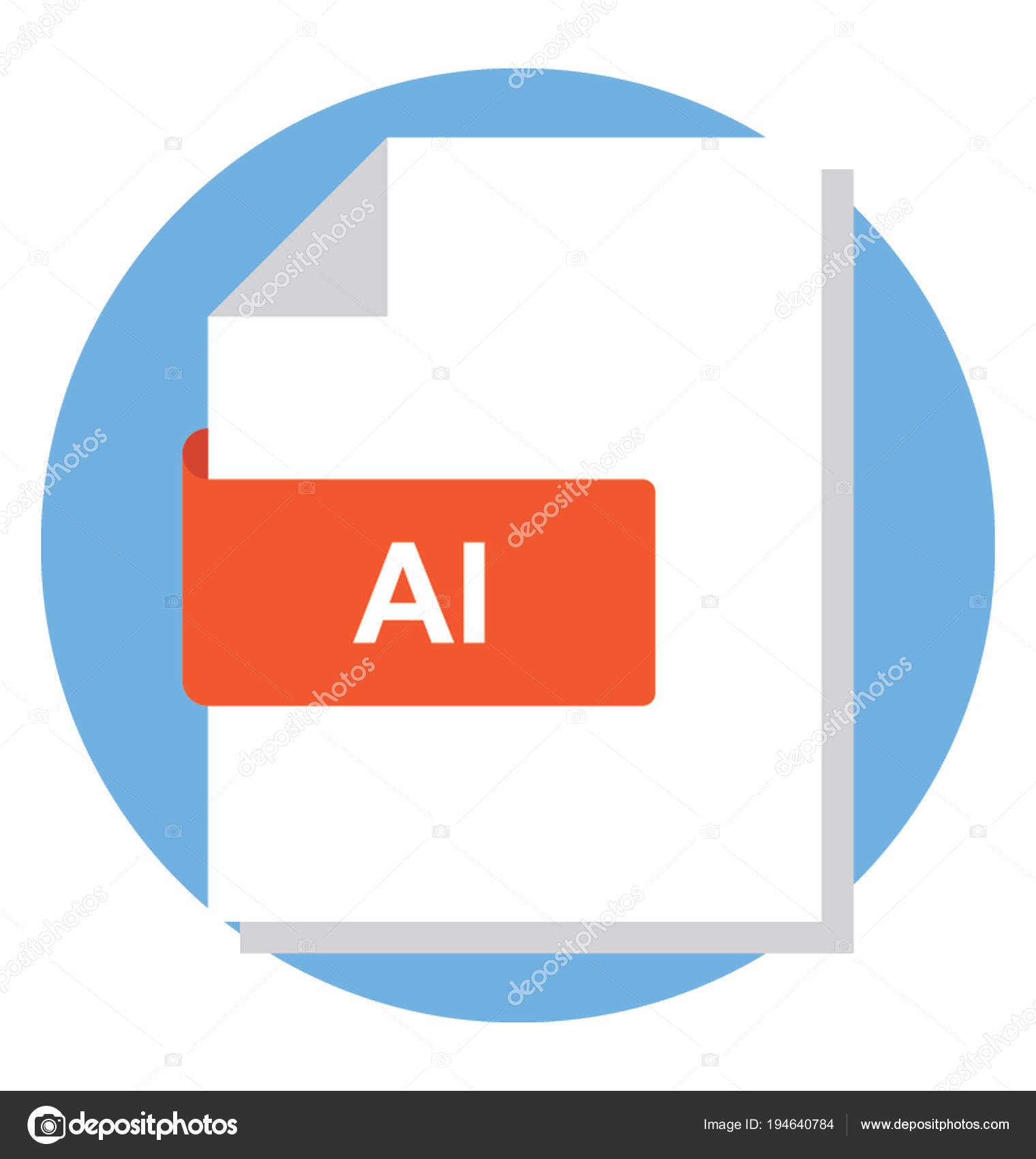 Flat Icon Adobe Illustrator File — Stock Vector © prosymbols