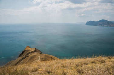 landscape with cliff and sea
