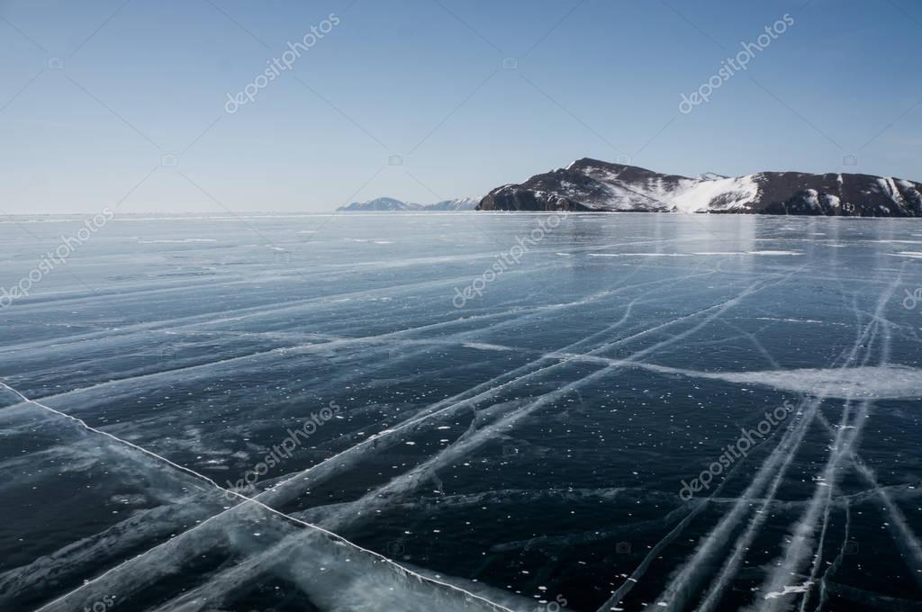 landscape with frozen sea