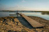 Fotografie plovákové na jezeře