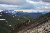 Fotografie hory a mraky scéna