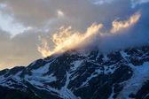 zimní hory, krajina