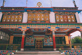 Photo monumental ancient building in Leh city, Indian Himalayas
