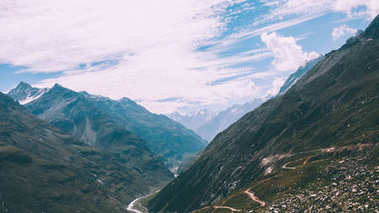 majestic mountain landscape in Indian Himalayas, Rohtang Pass