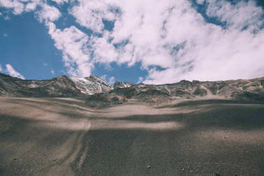 beautiful valley and rocky mountains in Indian Himalayas, Ladakh region