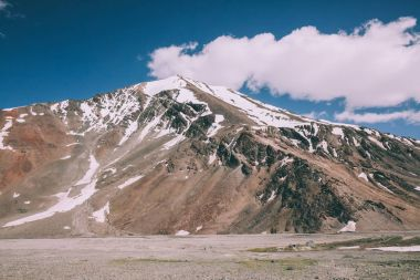 majestic snow capped mountain peak in Indian Himalayas, Ladakh region