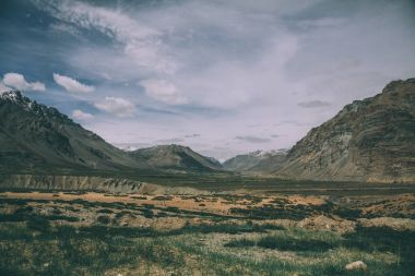 tranquil scene in majestic mountains with valley in Indian Himalayas, Ladakh region