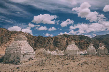 Valley of stupas in Leh, Indian Himalayas
