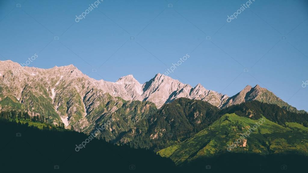 scenic mountain landscape in Indian Himalayas