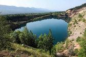Fotografie krásná krajina pohled na hory a jezero, Altaj, Rusko