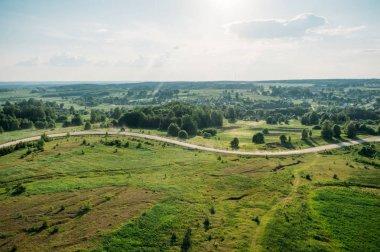 Beautiful summer landscape of Kreva, Grodno Region, Belarus stock vector