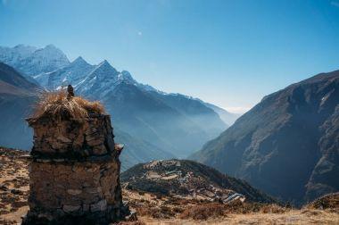 Breathtaking view of Nepal mountains peaks, Sagarmatha, 2014