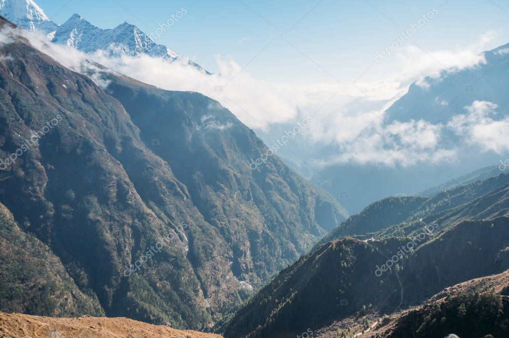 amazing mountains landscape, Nepal, Sagarmatha, November 2014