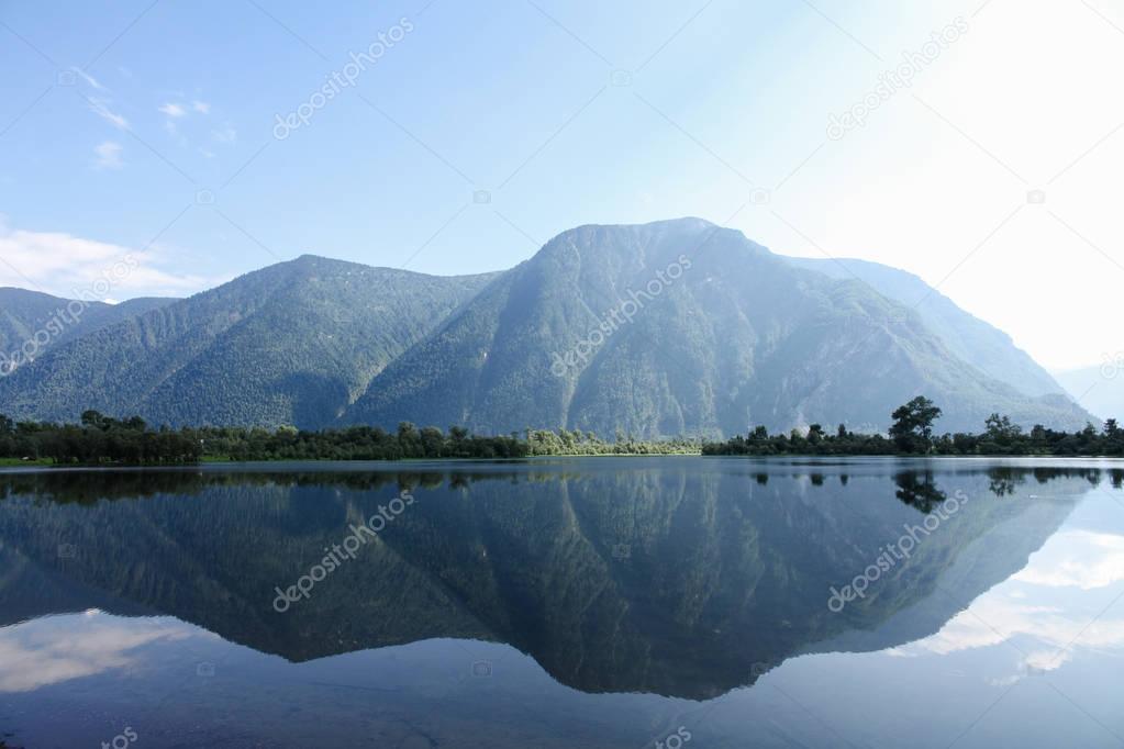 Фотообои beautiful landscape view of mountains and lake, Altai, Russia