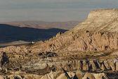 Fotografie Letecký pohled na Goreme národního parku, pohádkové komíny Kappadokie, Turecko