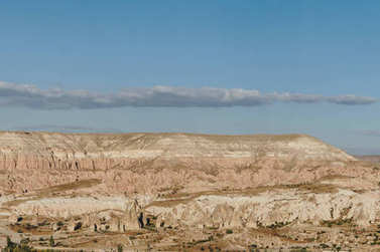 Mountain landscape in Goreme national park, Cappadocia, Turkey stock vector