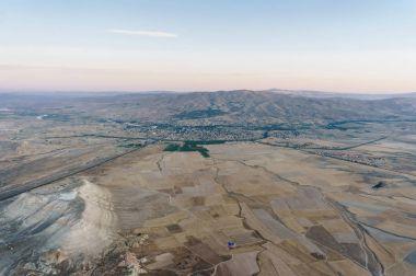 Aerial view of Goreme national park, Cappadocia, Turkey stock vector