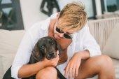 Fotografie Mensch und Hund