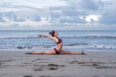front splits pose
