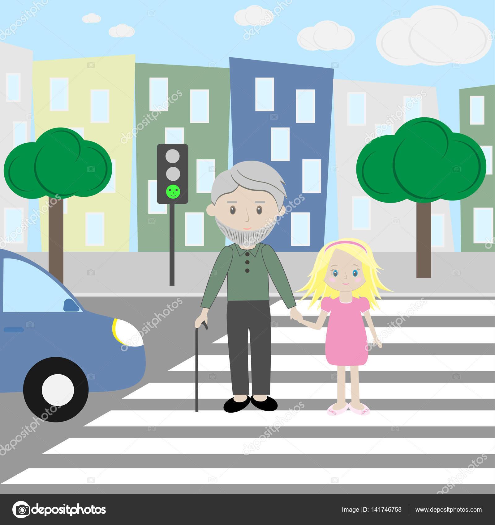 снимков картинка пешеходы и светофор преддверии