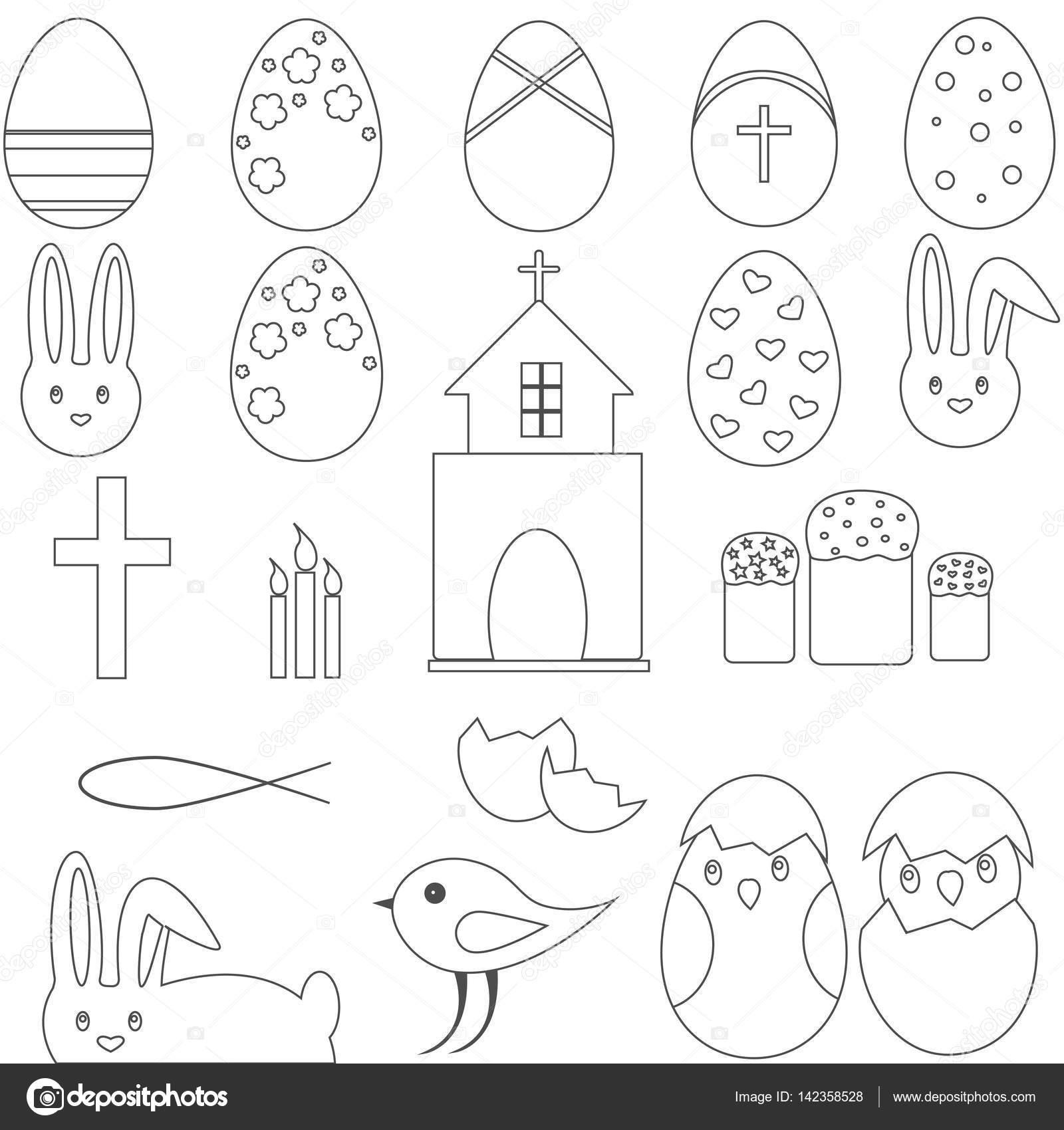 Christian Symbols Easter Eggs Bunny Stock Vector Gyso4ka 142358528