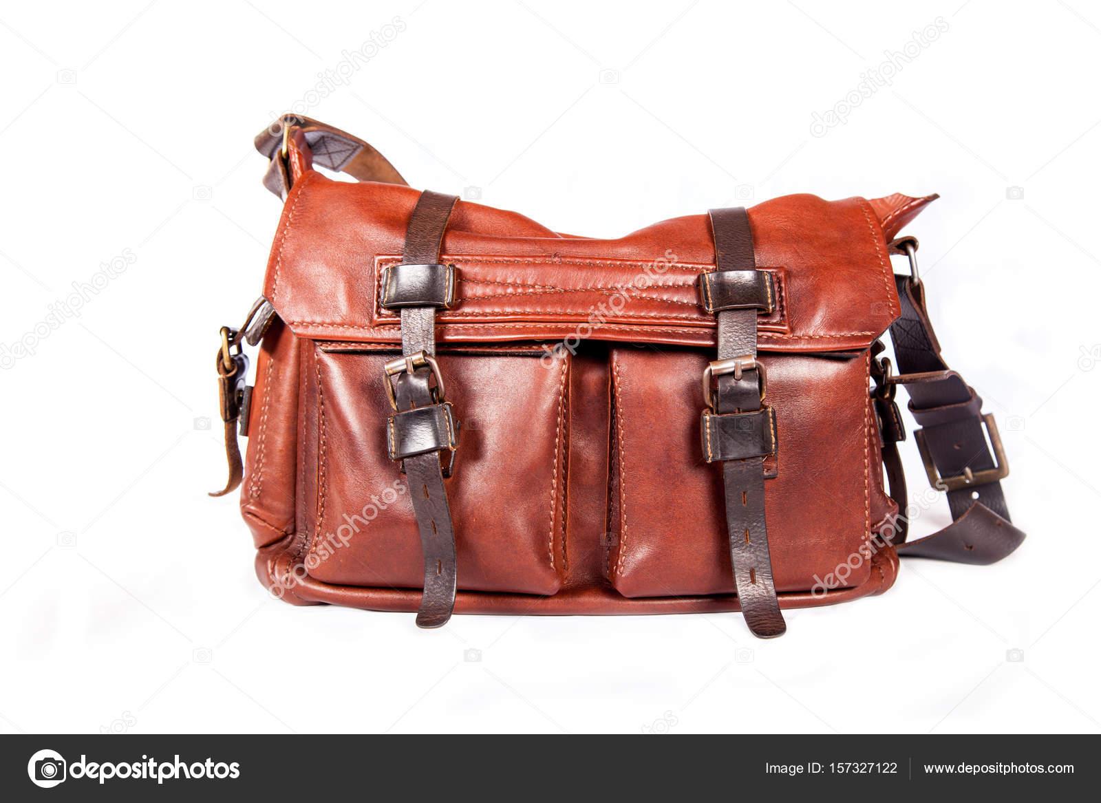 419eb55a7d1ed Ręcznie robione skórzane torby szacunku — Zdjęcie stockowe © gyso4ka ...