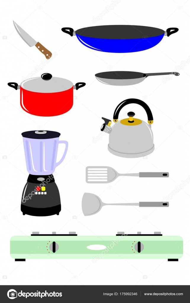 Various Tools Items Cooking Kitchen Stock Vector C Swidhistira Yahoo Co Id 175992346