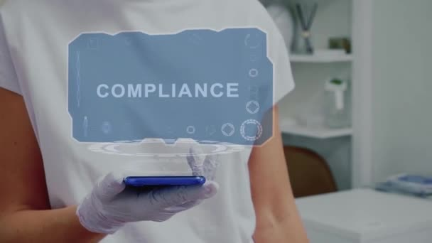 Doctor with hologram Compliance