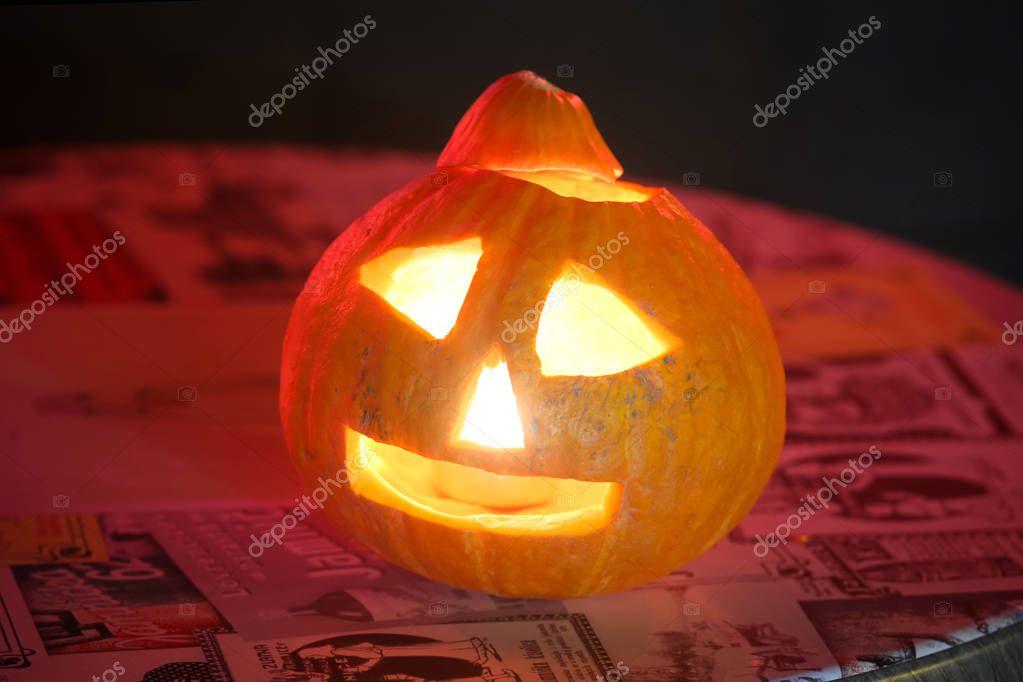 31 Oktober Halloween Feest.Halloween Pompoen Zagreb Kroatie Redactionele Stockfoto